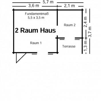 2-Raum-Haus-Skizze
