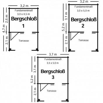 Bergschloss-Skizze