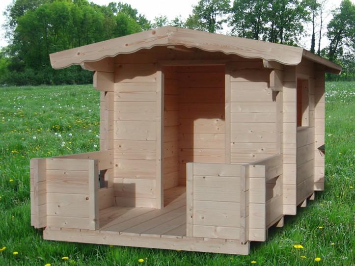 Kinderholzspielhaus