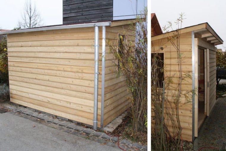 Holzhaus aus Lerchenholz